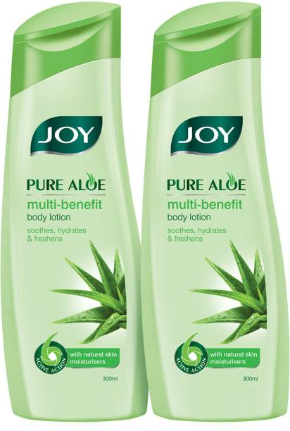 Joy Pure Aloe Multi-benefit Body Lotion 600 ml (Pack of 2 x 300 ml)