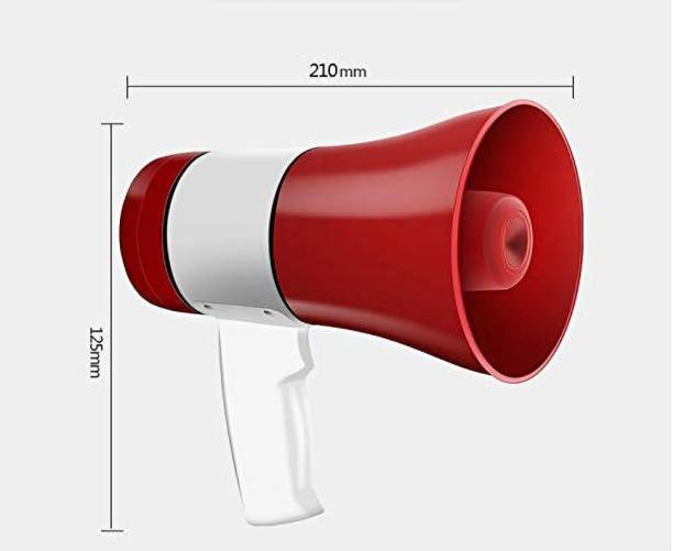 HI-PLASST TG-556 30 Watts Handheld Megaphone with Recorder; USB and Memory Card Input for Announcing; Talk; Record; Play; Siren; Music including of Battery Outdoor PA System