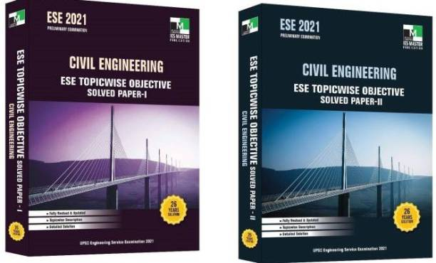 ESE 2021 Preliminary Examination - Civil Engineering - ESE Topicwise ObjectiveSolved Paper- 1 & 2 ( Combo Of 2 Books) (English, Paperback, IES Master Team)