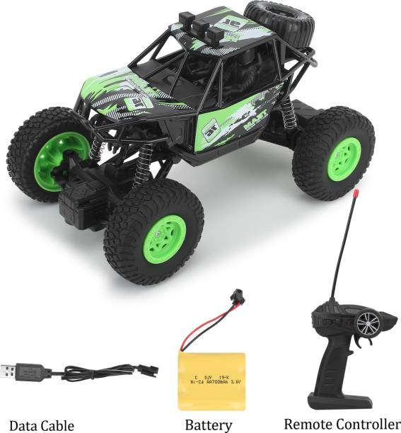 CADDLE & TOES Waterproof Remote Controlled Rock Crawler RC Monster Car With Wheel Remote , 4 Wheels , 1 Stepnee, , 1:20 scale
