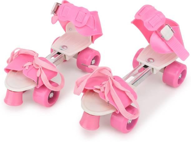 CADDLE & TOES Skates Shoes For Kids / Childrens - UNISEX In-line Skates Quad Roller In-line Skates (adjustable size) Quad Roller Skates Quad Roller Skates - Size Free UK