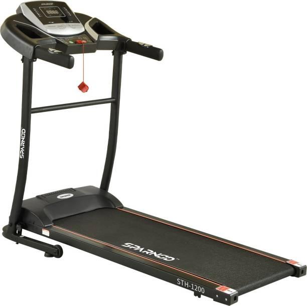 Sparnod Fitness STH-1200 (3 HP Peak) Automatic Treadmill Motorized Treadmill for Home Use Treadmill