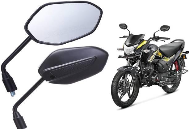 JCTEK Manual Driver Side, Rear View Mirror For Universal For Bike Universal For Bike