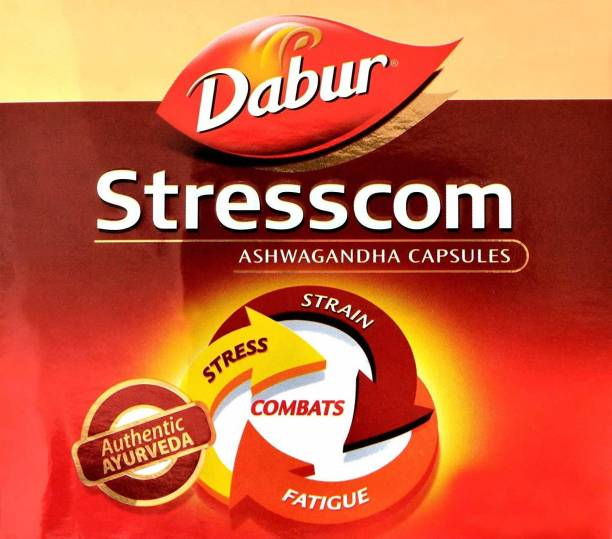 Dabur Stresscom Ashwagandha 120 Caps (10 caps X 12 strips) (120 No)