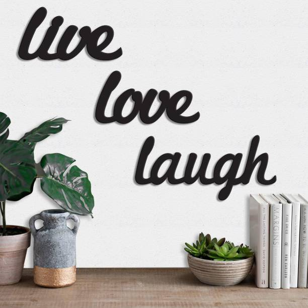 Painting Mantra Art Street Live Love Laugh MDF Plaque Painted Cutout Ready to Hang Home Décor Wall Art