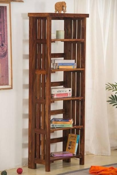 FURINNO Solid Wood Open Book Shelf