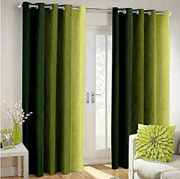 HVF Threads 152 cm (5 ft) Polyester Window Curtain (Pack Of 2)