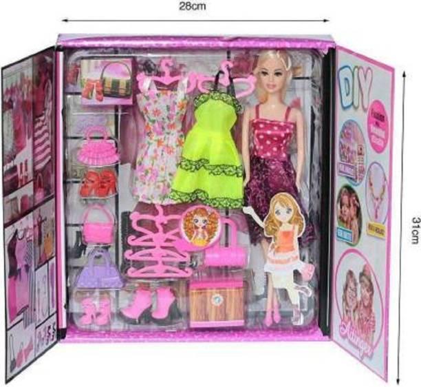Kmc kidoz Beautiful Fashion doll & Accessories (Multicolor)