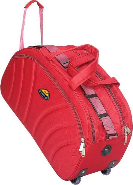 sky spirit (Expandable) super stylish tuff quality 50L with two roller wheels travel bag Duffel Strolley Bag