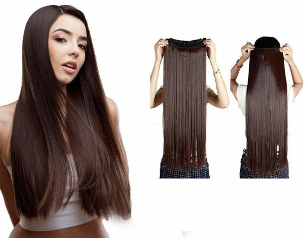 Blushia Wholsale Price Natural Brown Excellent Quality 5 Clip in Hair Extension