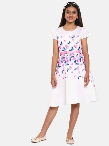 Yk Girls Midi/Knee Length Party Dress