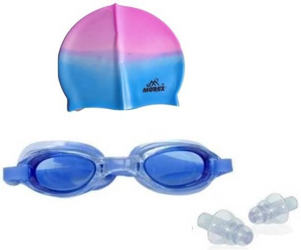 MOREX ® Swimming Cap , Google 0,Ear plug CB-49 Swimming Kit