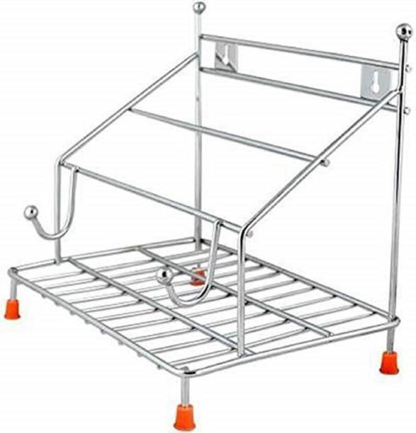 Amazing Choice Stainless Steel 4 in 1 Chakla/Belan/Tawa/Chimta Stand Chakla/Belan Kitchen Rack