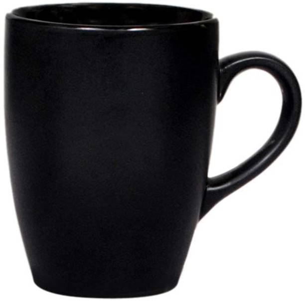 Fluemart Unique Ceramic Glossy Black Coffee Ceramic Coffee Mug