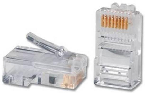 atekt RJ-45 Plug Connector CAT5 CAT5e CAT6 Network LAN Crimps Lan Network Interface Card