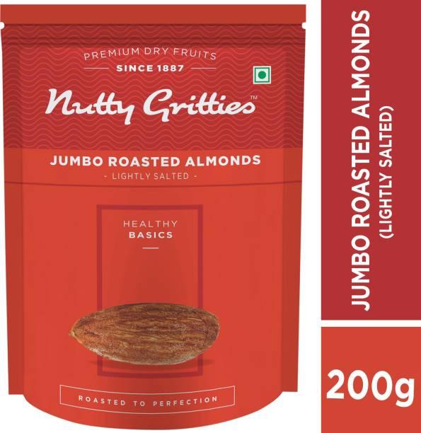 Nutty Gritties Jumbo Roasted Almonds, Lightly Salted Almonds