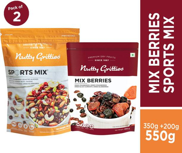 Nutty Gritties Premium Diwali Mixed Nuts Dry Fruits-Sports Mix & Mixed Berries