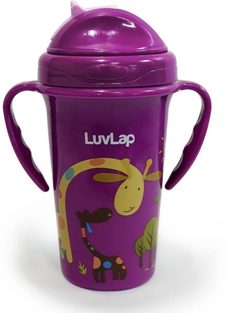 LuvLap Tiny Giffy Sippy Cup, Silicone Straw, BPA Free, 300 ml 18m+