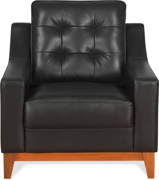 @Home by nilkamal Marissa Half-leather 1 Seater  Sofa