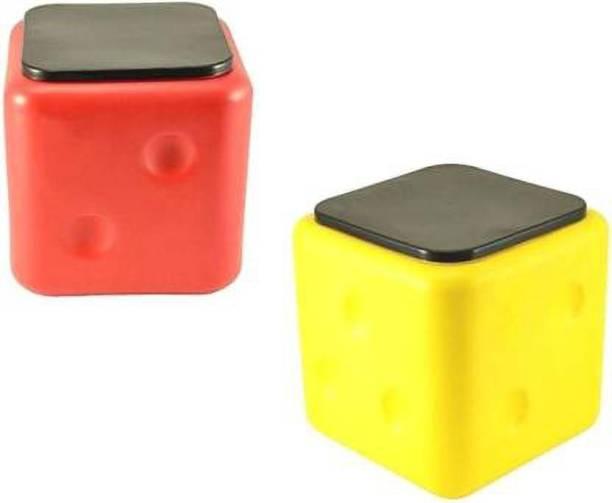 Manvyu Dies Stool ( 2 PCS. ) ( Red & Yellow ) Set Living & Bedroom Stool Stool