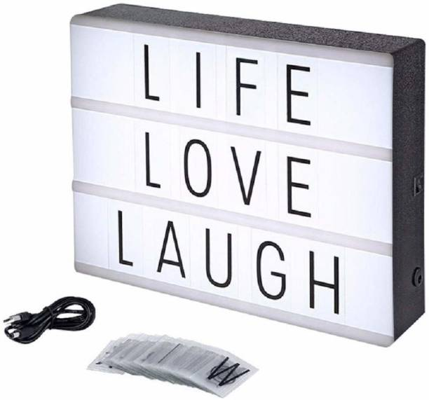 Iktu Cinematic Light Box Sign -96 Letters and Emoji -USB or Battery Operated -USB Cable Included -Vintage Cinema LED Sign Table Lamp