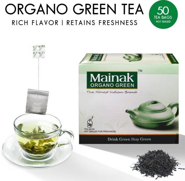 Mainak 100% Pure and Natural Organo Green Tea Bags Box