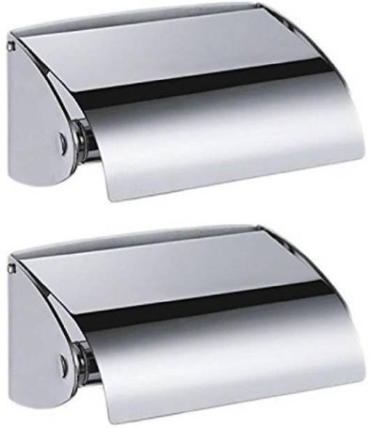 JPS Wall Mount Stainless Steel Bathroom Tissue Paper Holder(Set of 2) Steel Toilet Paper Holder