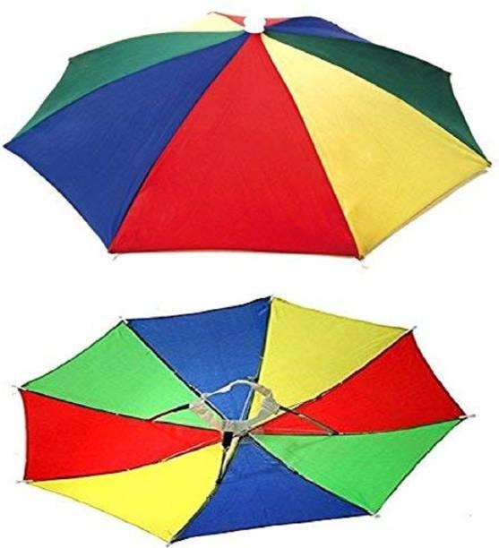 Vegmine RL-07 Hands Free - Rainbow Colorful / Adjustable Elastic, Size Fits All Ages, Kids, Men & Women (Pack of 1) Umbrella