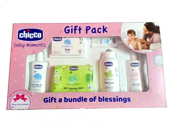 Chicco Baby Moments Gift pack, Pink,0m+