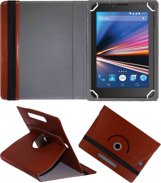 Fastway Flip Cover for Lava Ivory Plus 4G 7 inch with 4G Tablet