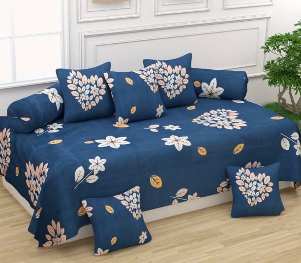 TEYJA COLLECTIONS Cotton Floral Diwan Set