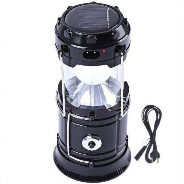 DAYLIGHT INDIA 6 + 1 LED USB and Mobile Charging 2 Power Sources Power Lithium Battery Travel Camping Solar Emergency Light/Lantern with Cable Lantern Emergency Light