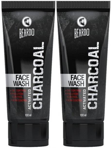 BEARDO Activated Charcoal Face wash Combo Face Wash