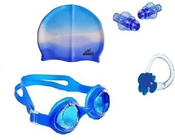 MOREX ® Swimming Cap , Google ,Ear plug & Nose Clip CB-60 Swimming Kit
