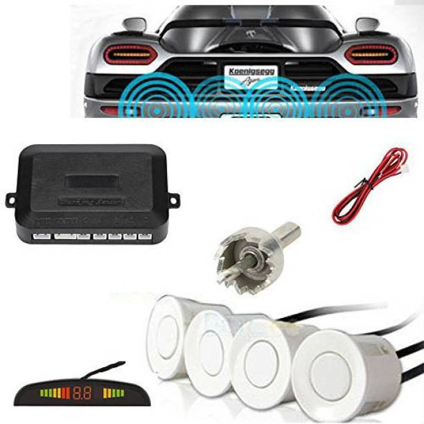 Ramanta Car Reverse Parking Sensor for Universal for all Car (White) Convex Car Reverse Parking Sensor for Universal for all Car (White) Parking Sensor