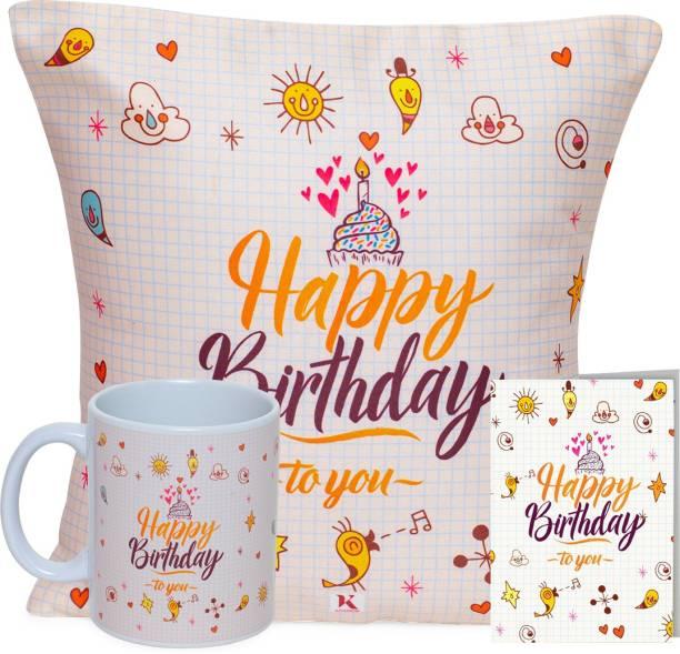 Kaameri Bazaar Mug, Cushion, Greeting Card Gift Set