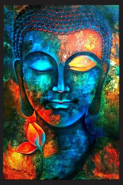 VCREATE DECOR Budha Paper Print