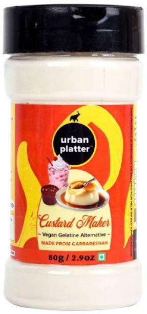 urban platter Custard Maker Vegan Gelatin Alternative, 80g / 2.9oz [Made from Carrageenan, for Milk Based Applications] Custard Powder