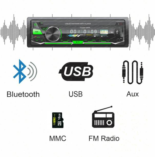 Hypersonic HYP-2077 UNIVERSAL SINGLE DIN CAR STEREO Car Stereo