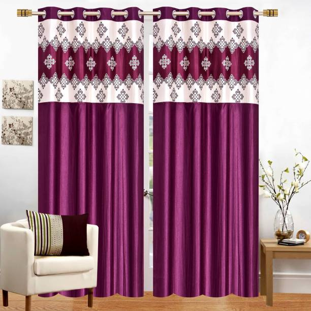 Stella Creations 214 cm (7 ft) Polyester Door Curtain (Pack Of 2)