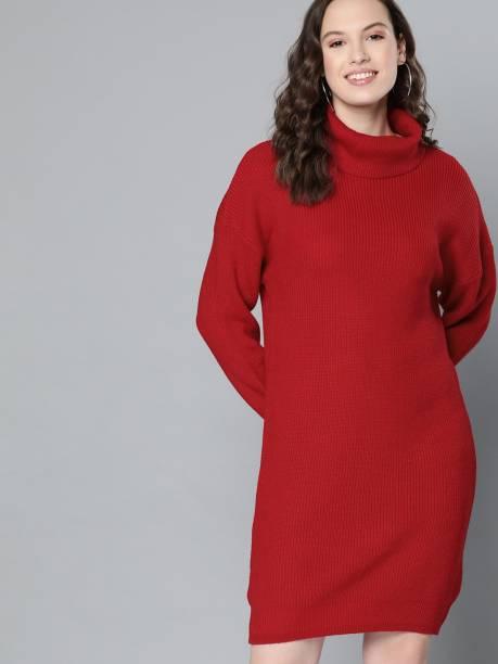 MAST & HARBOUR Women Sweater Red Dress