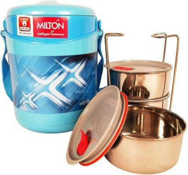 MILTON ECONA DELUXE 3 TIFFIN (BLUE) 3 Containers Lunch Box