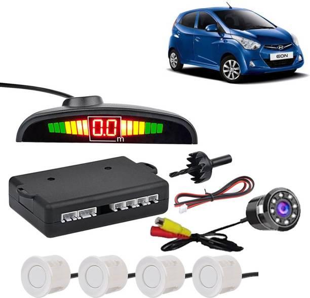aksmit PSWCLEDWHT127 Car Safety System White Color Parking Sensor With LED Camera For Eon_CPS798 Parking Sensor