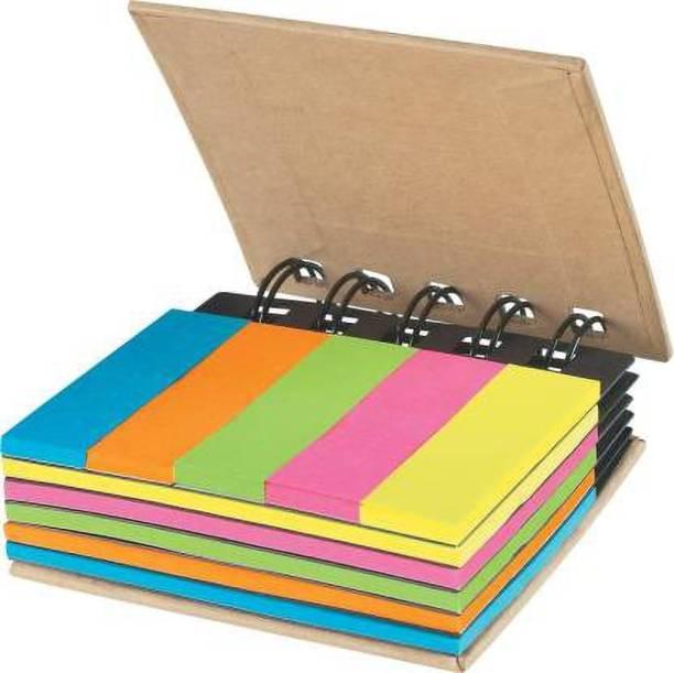 Ozimo Pocket Size Spiral Sticky Notes 25 Sheets Pocket Size Sticky Notes, 5 Colors