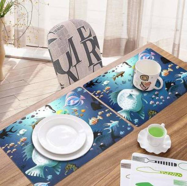 REVEXO Rectangular Pack of 6 Table Placemat