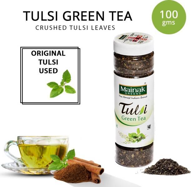 Mainak 100% Natural and Pure Tulsi, Plain Green Tea Plastic Bottle
