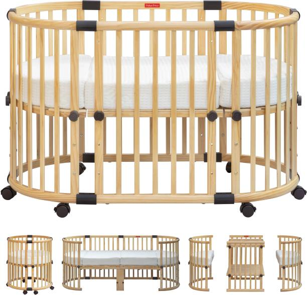 FISHER-PRICE Multifunction Baby Crib and Bed - Natural Cot