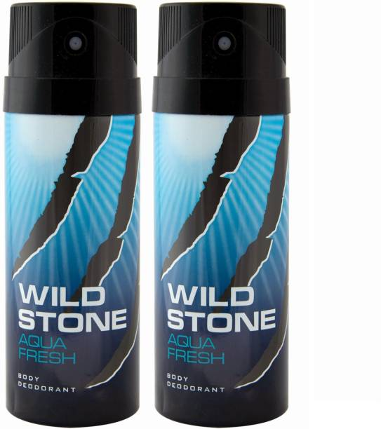 Wild Stone AQUA FRESH ( PACK OF 2) Deodorant Spray  -  For Men