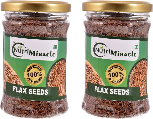 NUTRI MIRACLE flax seeds combo pack of 2