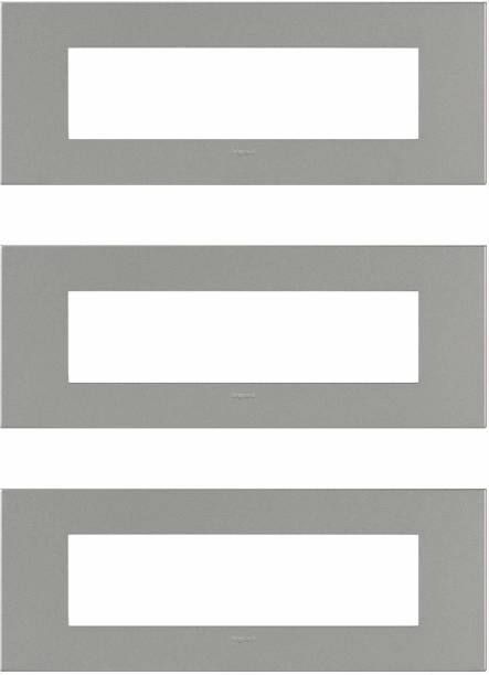 Legrand 575816 Magnesium cover plates with frame - 8 module (Magnesium,Pack of 3) Wall Plate